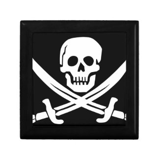 Cross Bones Flag Pirate Skull Gift Box