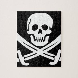Cross Bones Flag Pirate Skull Jigsaw Puzzle