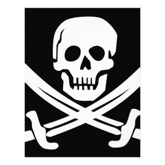 Cross Bones Flag Pirate Skull Letterhead