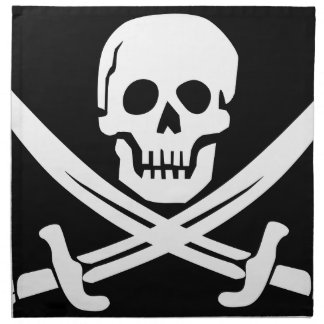 Cross Bones Flag Pirate Skull Napkin