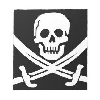 Cross Bones Flag Pirate Skull Notepad
