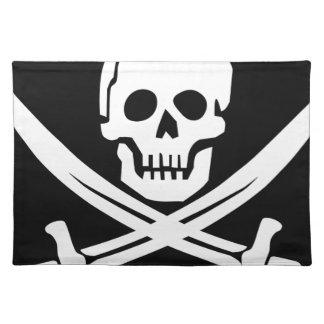 Cross Bones Flag Pirate Skull Placemat