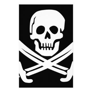 Cross Bones Flag Pirate Skull Stationery