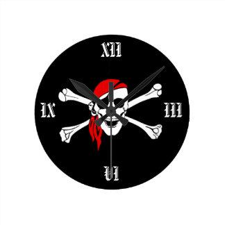 Cross Bones Pirate Wall Clock