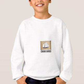 cross bones scroll sweatshirt