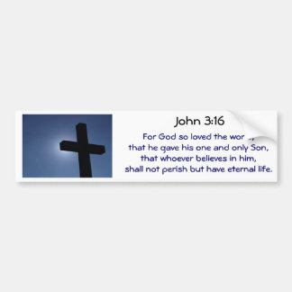 Cross Bumper Sticker