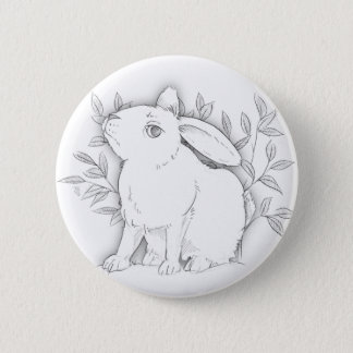 cross bunny 2 inch round button