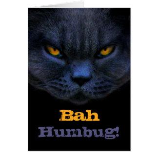 Cross Cat says Bah Humbug! Greeting Cards