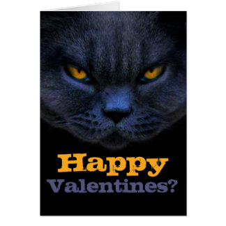 Cross Cat says Happy Valentines? Card