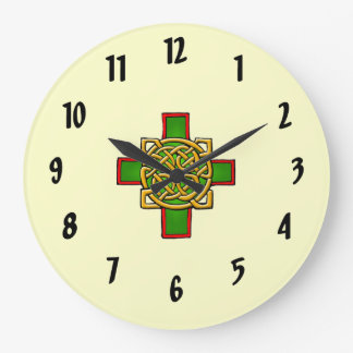 Cross Celtic design Wall Clock