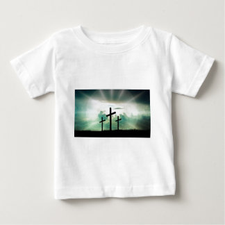 Cross Christ Faith God Jesus Clouds Sun Light Baby T-Shirt
