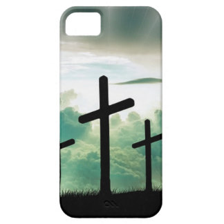 Cross Christ Faith God Jesus Clouds Sun Light iPhone 5 Case