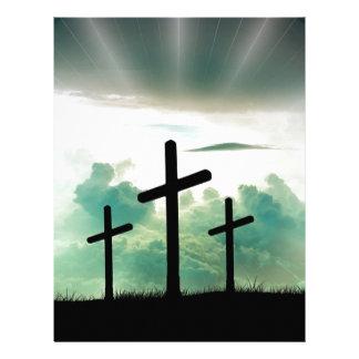 Cross Christ Faith God Jesus Clouds Sun Light Letterhead