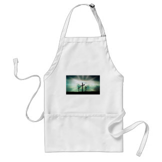 Cross Christ Faith God Jesus Clouds Sun Light Standard Apron