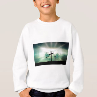Cross Christ Faith God Jesus Clouds Sun Light Sweatshirt