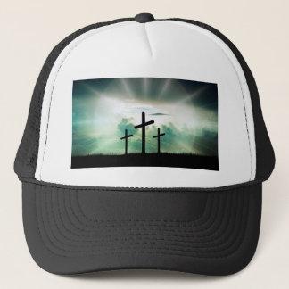 Cross Christ Faith God Jesus Clouds Sun Light Trucker Hat