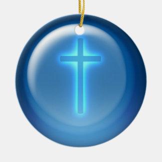 Cross - Christian Ceramic Ornament