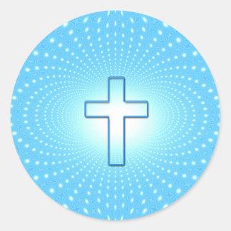 cross classic round sticker