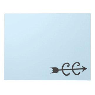 Cross Country Arrow Symbol Notepads