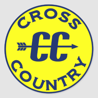 Cross Country Classic Round Sticker