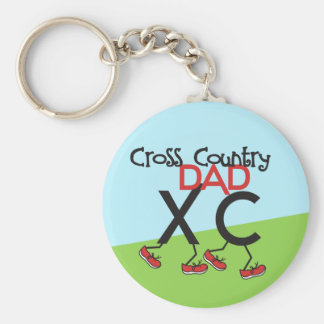 Cross Country Dad - Cross Country Runner Dad Basic Round Button Keychain