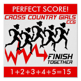 "CROSS COUNTRY GIRLS ""PERFECT SCORE!"" POSTER"