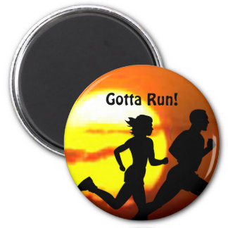 CROSS COUNTRY - GOTTA RUN - STAMP - SUNSET MAGNET
