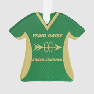 Cross Country Green and Gold Sports Jersey Photo