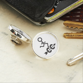 Cross Country Lapel Pin
