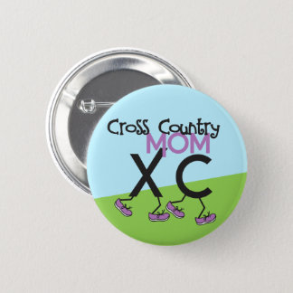 Cross Country Mom - Cross Country Runner Mom 2 Inch Round Button