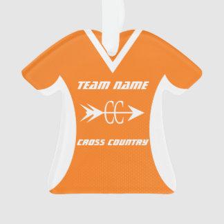 Cross Country Orange Sports Jersey Photo Ornament