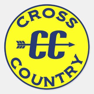 Cross Country Round Sticker