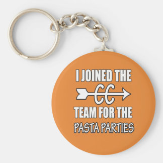 Cross Country Runner Pasta Party Key Chain Gift