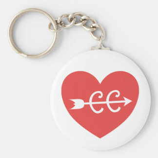 Cross Country Running and Arrow Symbol Keychain