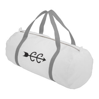 Cross Country Running Arrow Symbol Gym Bag