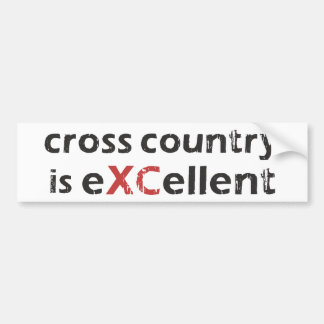 Cross Country Running is © eXCellent Bumper Sticker