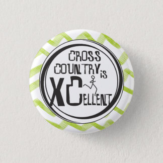 Cross Country Running is XCellent © 1 Inch Round Button