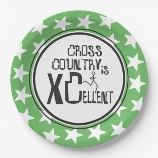 Cross Country Running is XCellent 9 Inch Paper Plate