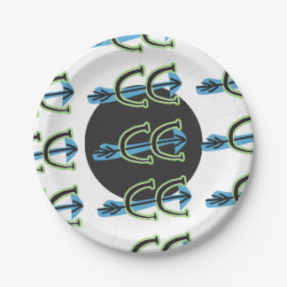 "Cross Country Running Symbol 7"" Paper Plate 7 Inch Paper Plate"