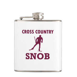 Cross Country Ski Snob Hip Flask