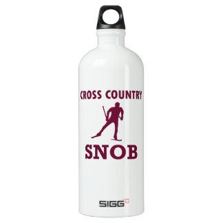 Cross Country Ski Snob Water Bottle