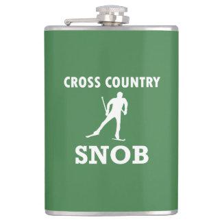 Cross Country Ski Snob (White Logo) Hip Flask