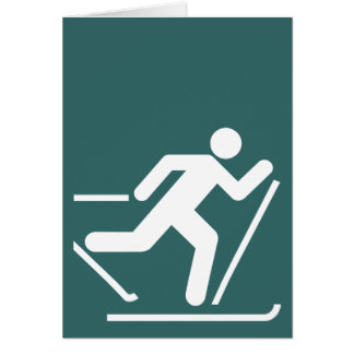 Cross Country Ski Symbol Card
