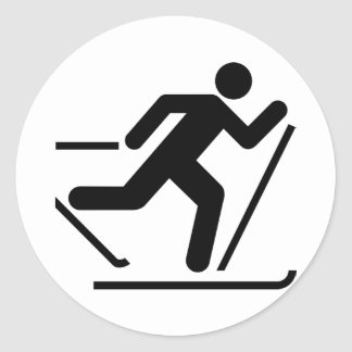 Cross Country Ski Symbol Sticker