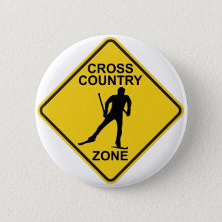 Cross Country Ski Zone 2 Inch Round Button