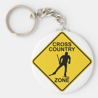 Cross Country Ski Zone Keychain