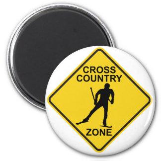 Cross Country Ski Zone Magnet