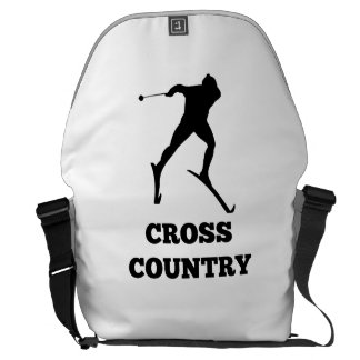 Cross Country Skier Courier Bag