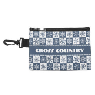 Cross Country Skier's Snowflake Accessory Bag