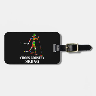 Cross-Country Skiing Luggage Tag